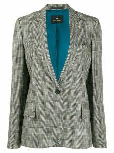 PS Paul Smith checked print single breasted blazer - Black