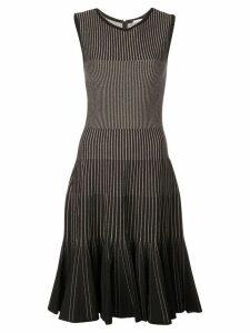 Oscar de la Renta lurex stripe dress - Black