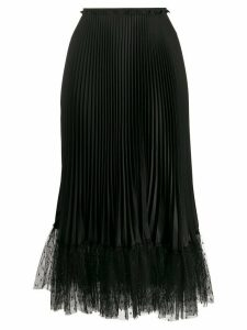 Red Valentino tulle hem pleated skirt - Black