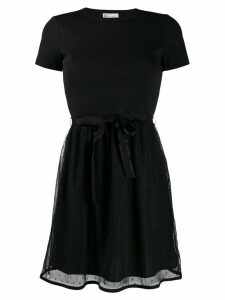 Red Valentino tulle-overlay T-shirt dress - Black