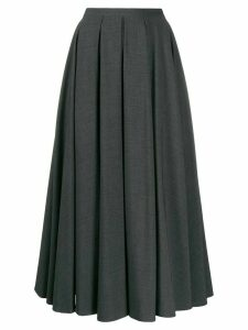 Blanca pleated A-line skirt - Grey
