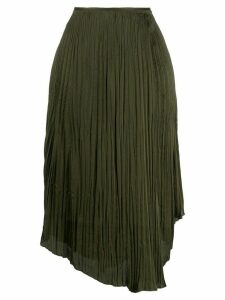 Vince Crushed Drape skirt - Green