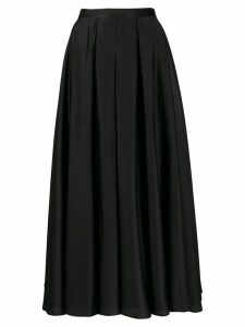 Blanca Vita pleated A-line skirt - Black