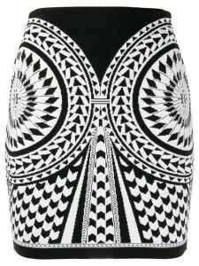 Balmain jacquard knit skirt - Black
