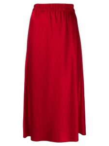Theory straight fit midi skirt - Red