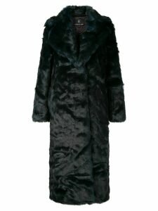 Unreal Fur oversized textured coat - Green