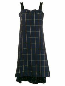 McQ Alexander McQueen checked sleeveless dress - Blue