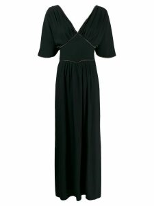 Amen crystal-embellished long dress - Black