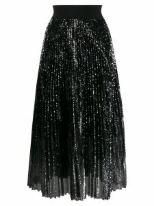 Dorothee Schumacher sequin pleated skirt - SILVER