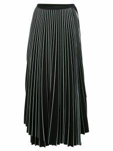 Proenza Schouler asymmetric pleated striped skirt - Black