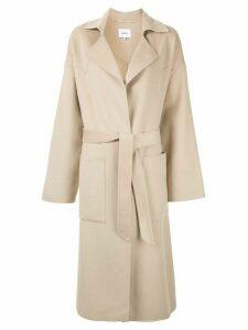 Nanushka tie waist coat - NEUTRALS