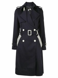Comme Moi double breasted trench coat - Blue