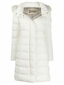 Herno hooded down coat - White