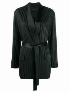 Joseph striped belted blazer - Black