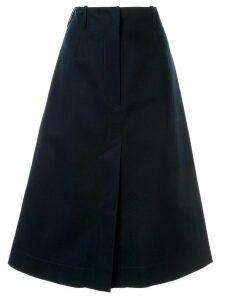 Cédric Charlier front slit skirt - Blue