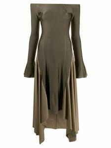 Charlotte Knowles off-the-shoulder asymmetric dress - NEUTRALS