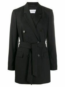 Calvin Klein Belted longline blazer - Black
