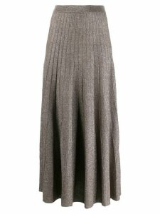 Joseph glitter effect pleated skirt - Brown