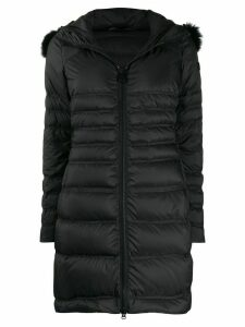 Peuterey quilted parka coat - Black