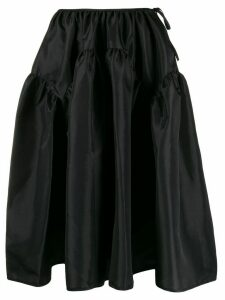 Cecilie Bahnsen elasticated full skirt - Black