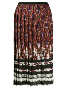 Vanessa Bruno aztec pleated skirt - Red