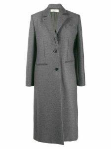 Nina Ricci fitted single-breasted coat - Grey