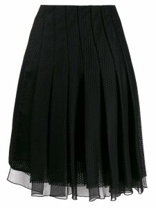 Dorothee Schumacher pleated mesh skirt - Black