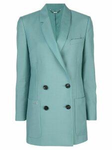 Fendi straight-cut logo blazer - Green