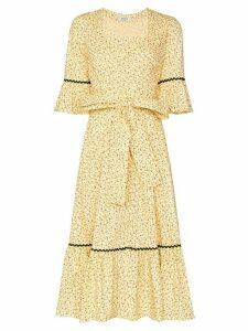 Batsheva Delsy floral print belted dress - Yellow