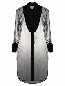 Alchemy sheer overcoat - Black
