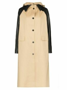 Kassl Editions contrast sleeve trench coat - NEUTRALS