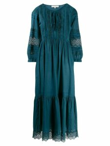 Vanessa Bruno lace embroidered flared dress - Blue