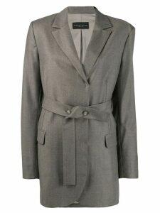 Fabiana Filippi belted blazer - Grey