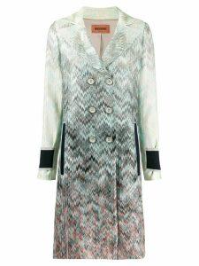 Missoni zigzag knit coat - Blue