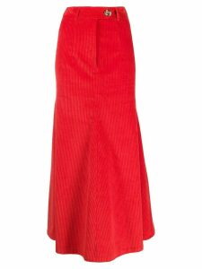 A.W.A.K.E. Mode high-waisted skirt - Red