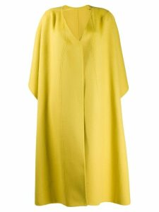 Esteban Cortazar layered cut-out detail coat - Yellow