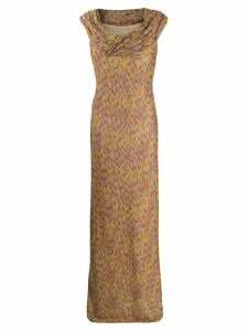 Missoni draped neck gown - Yellow