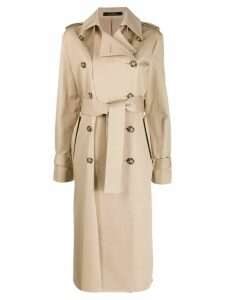 Rokh double breasted trench coat - NEUTRALS