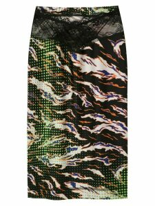 À La Garçonne printed Fire pencil skirt - Black