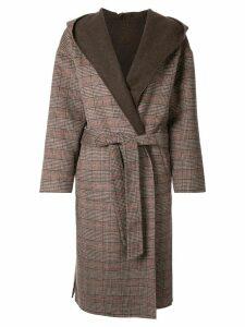 Loveless reversible shawl collar coat - Brown