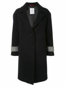 Loveless colour block coat - Black