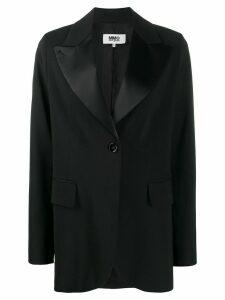 Mm6 Maison Margiela satin lapel blazer - Black