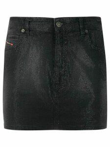 Diesel five-pocket embellished mini skirt - Black
