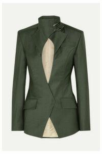 Situationist - Jack Cutout Wool-blend Blazer - Dark green