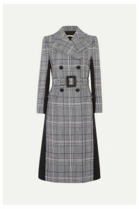 Givenchy - Double-breasted Prince Of Wales Checked Wool And Wool-blend Coat - Blue
