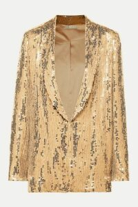 Alice + Olivia - Jace Sequined Tulle Blazer - Gold