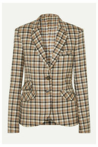 Paco Rabanne - Checked Wool-twill Blazer - Beige