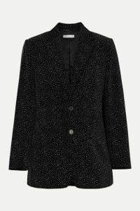 Bella Freud - Allen Oversized Glittered Cotton-velvet Blazer - Black