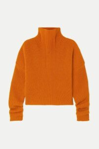 Petar Petrov - Kate Ribbed Cashmere Turtleneck Sweater - Orange