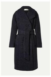 Victoria, Victoria Beckham - Oversized Belted Wool-blend Bouclé Coat - Midnight blue